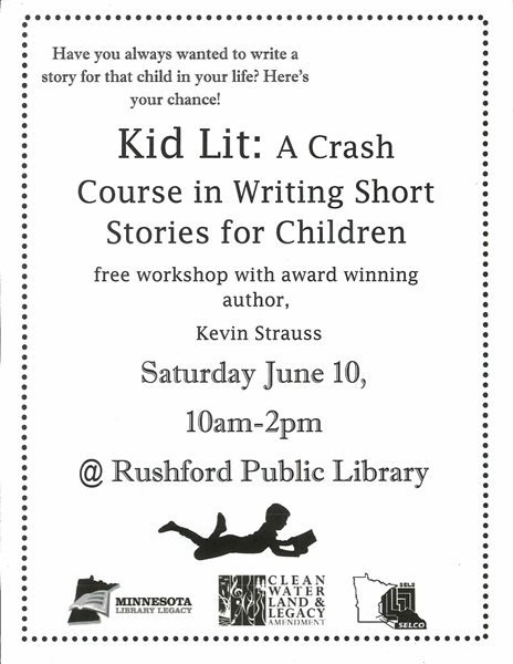 first program of the summer…Kid Lit writing workshop