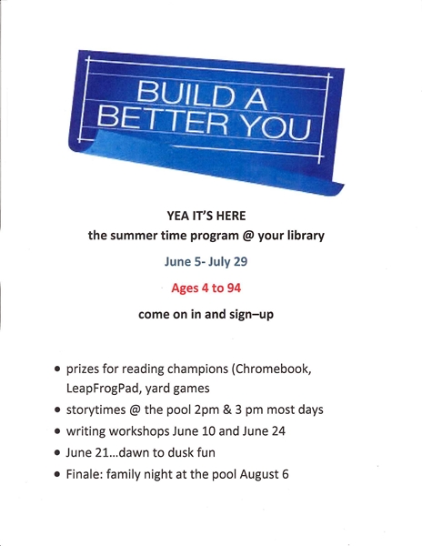 Summer begins….@ your library