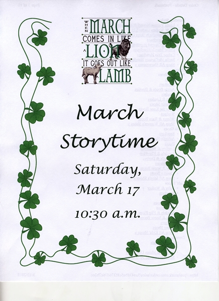 March Storytime